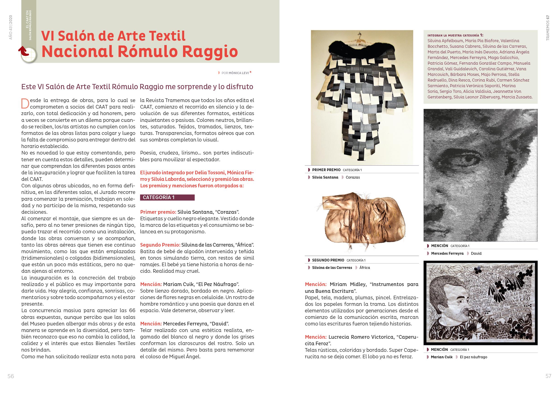 Revista Tramemos (Centro Argentino de Arte Textil)